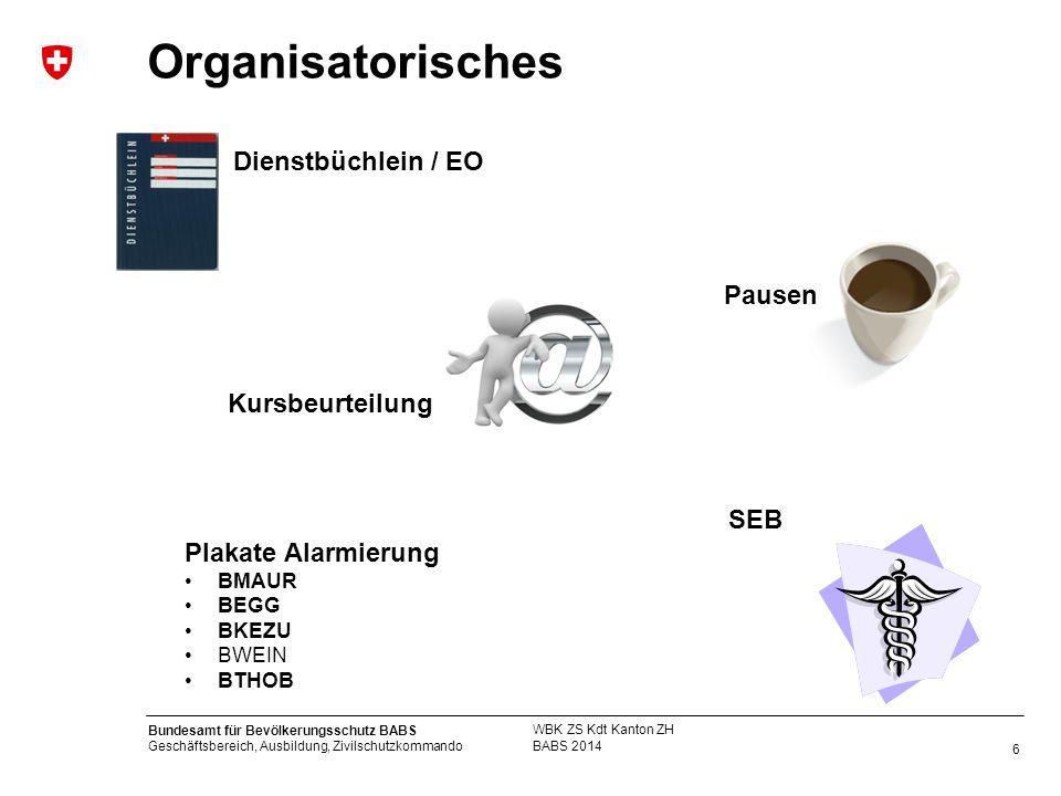 Organisatorisches Dienstbüchlein / EO Pausen Kursbeurteilung SEB