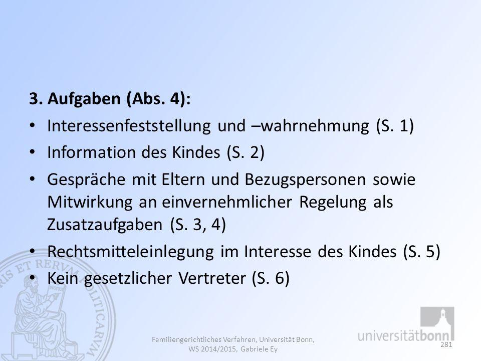 Interessenfeststellung und –wahrnehmung (S. 1)