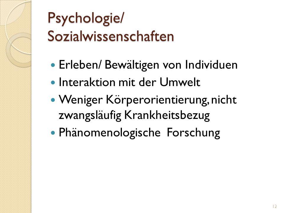 Psychologie/ Sozialwissenschaften