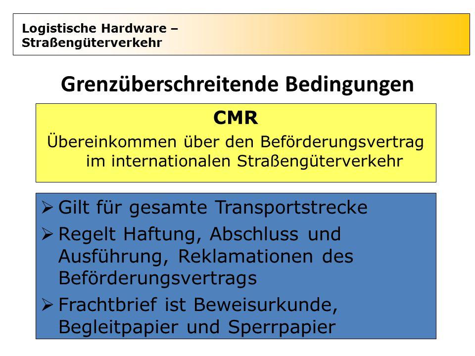 Grenzüberschreitende Bedingungen