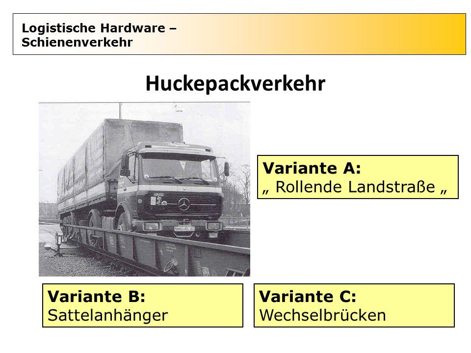 """Huckepackverkehr Variante A: """" Rollende Landstraße """" Variante B:"""