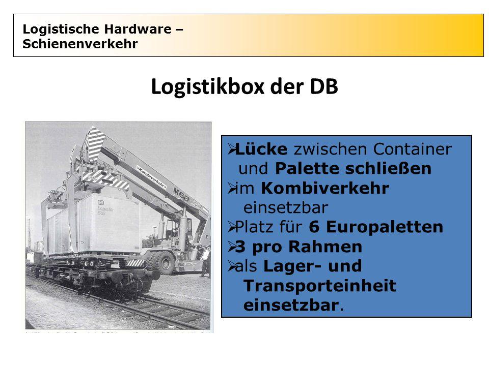 Logistikbox der DB Lücke zwischen Container und Palette schließen