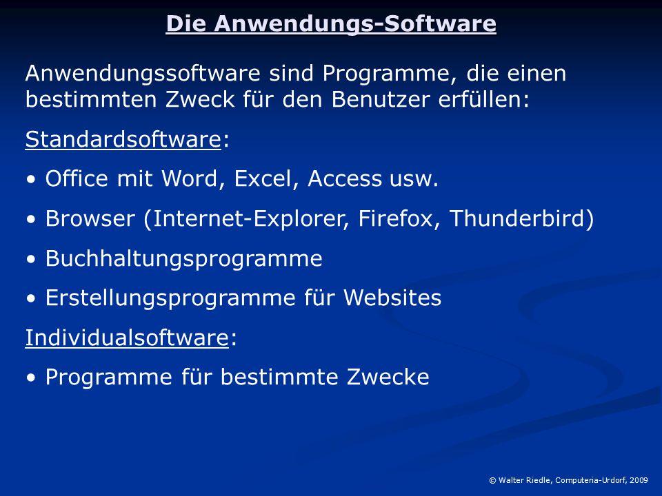 Die Anwendungs-Software