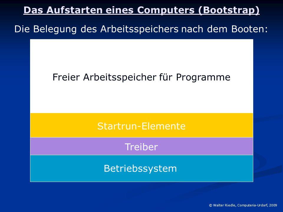 Das Aufstarten eines Computers (Bootstrap)