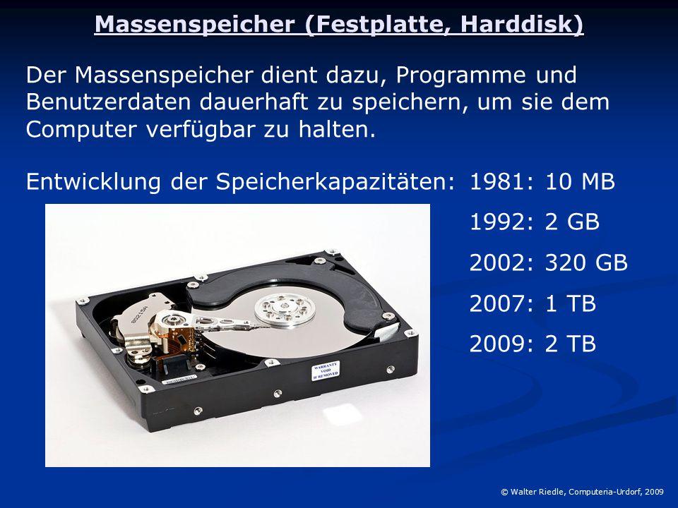 Massenspeicher (Festplatte, Harddisk)