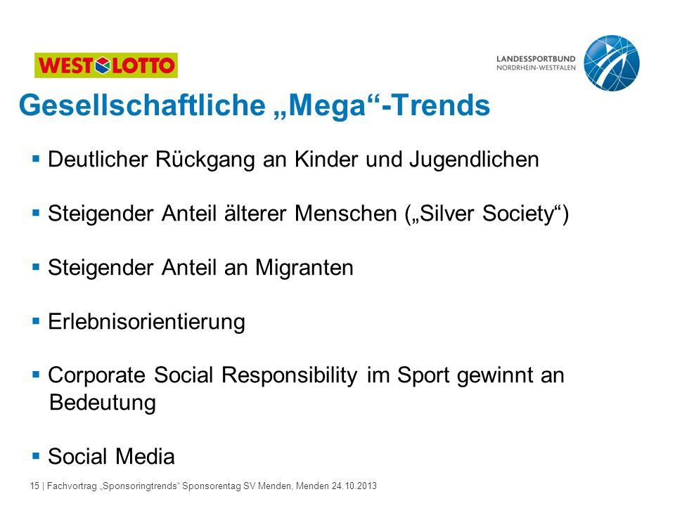 """Gesellschaftliche """"Mega -Trends"""