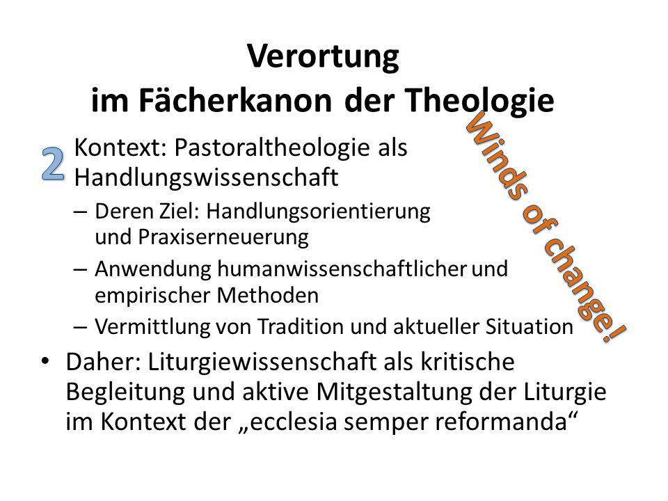 Verortung im Fächerkanon der Theologie