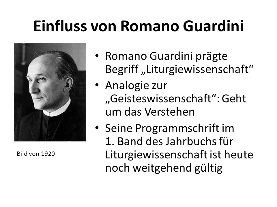 Einfluss von Romano Guardini