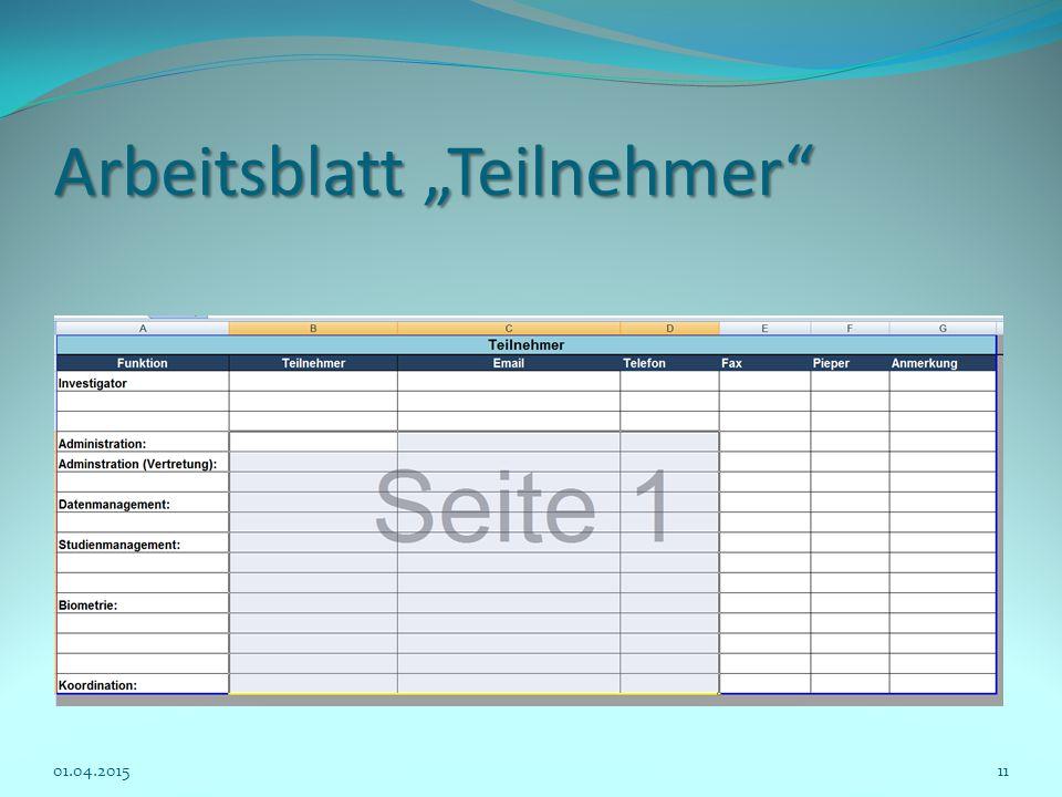 """Arbeitsblatt """"Teilnehmer"""
