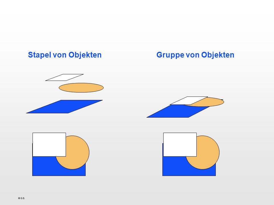 Stapel von Objekten Gruppe von Objekten