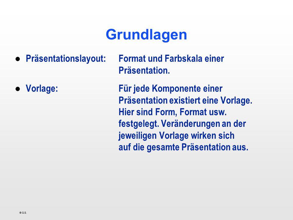 Grundlagen Präsentationslayout: Format und Farbskala einer Präsentation.