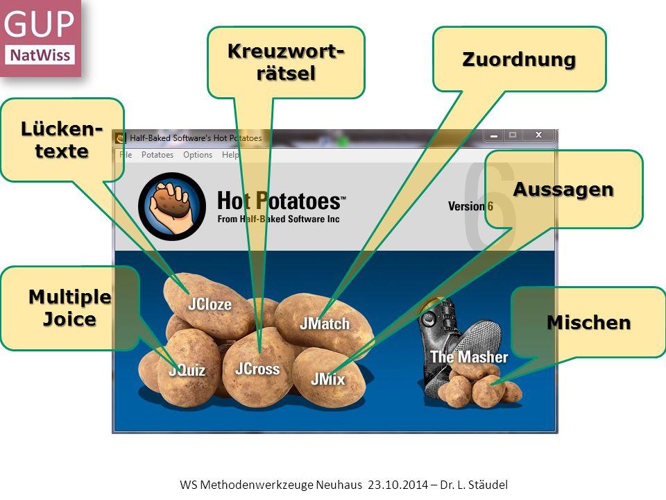 WS Methodenwerkzeuge Neuhaus 23.10.2014 – Dr. L. Stäudel