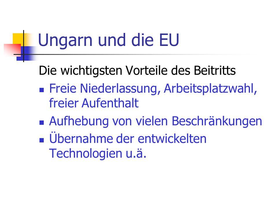 Ungarn und die EU Die wichtigsten Vorteile des Beitritts