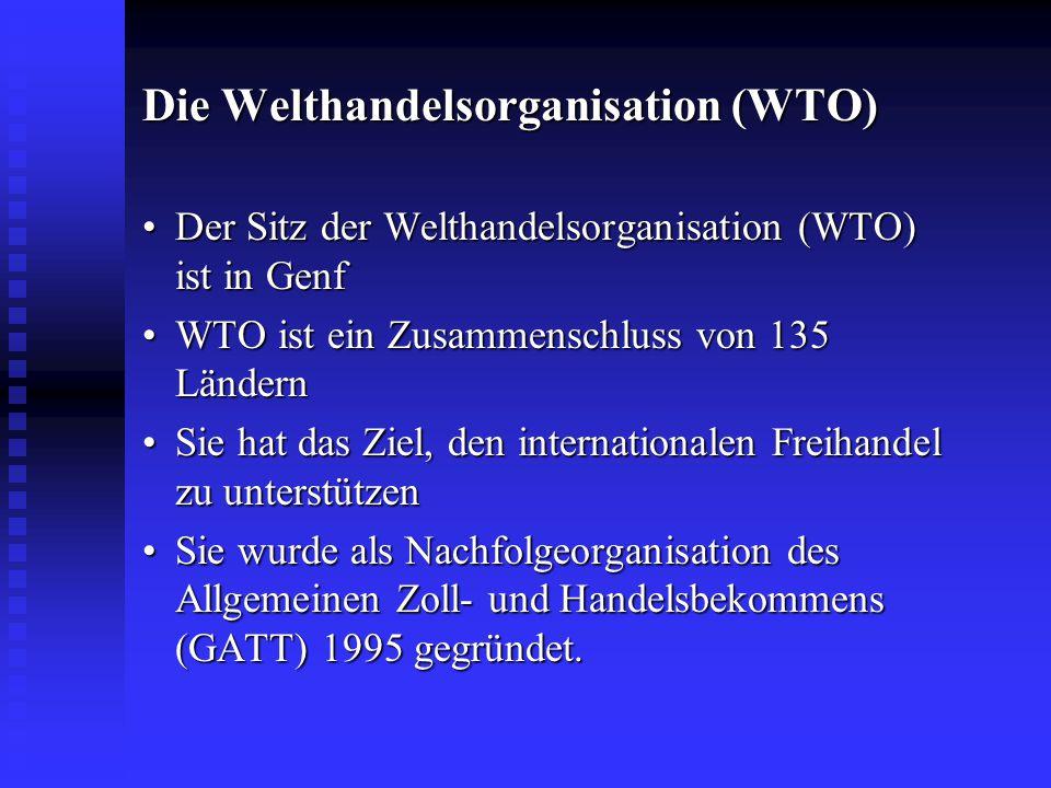 Die Welthandelsorganisation (WTO)