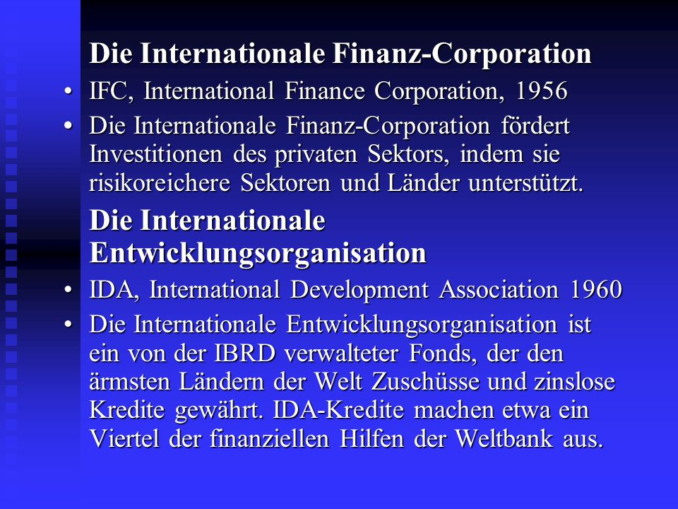 Die Internationale Finanz-Corporation