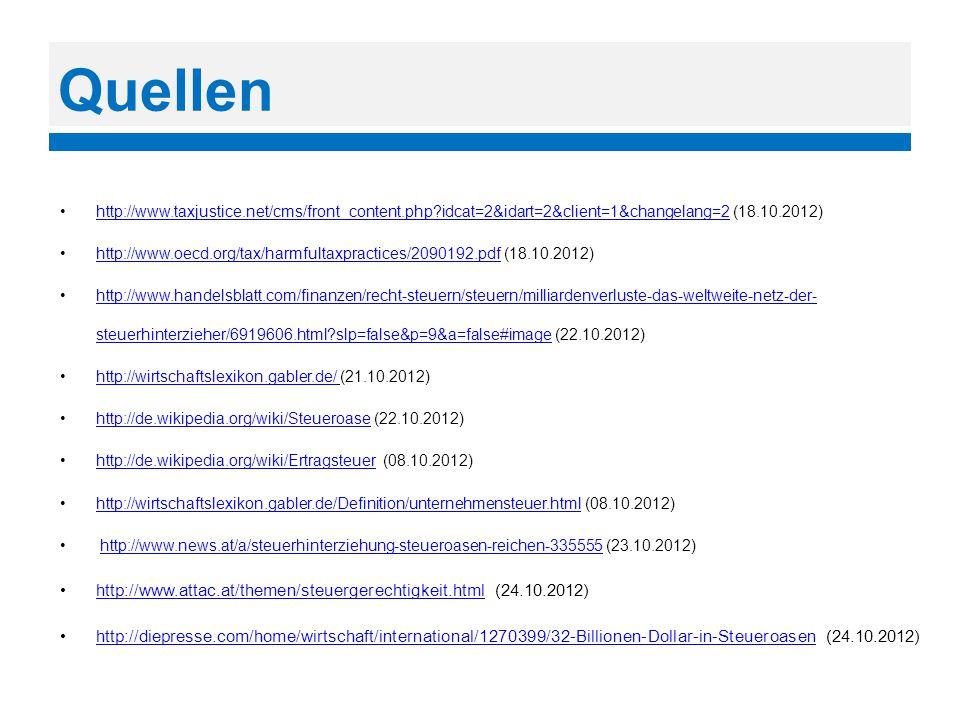 Quellen http://www.taxjustice.net/cms/front_content.php idcat=2&idart=2&client=1&changelang=2 (18.10.2012)