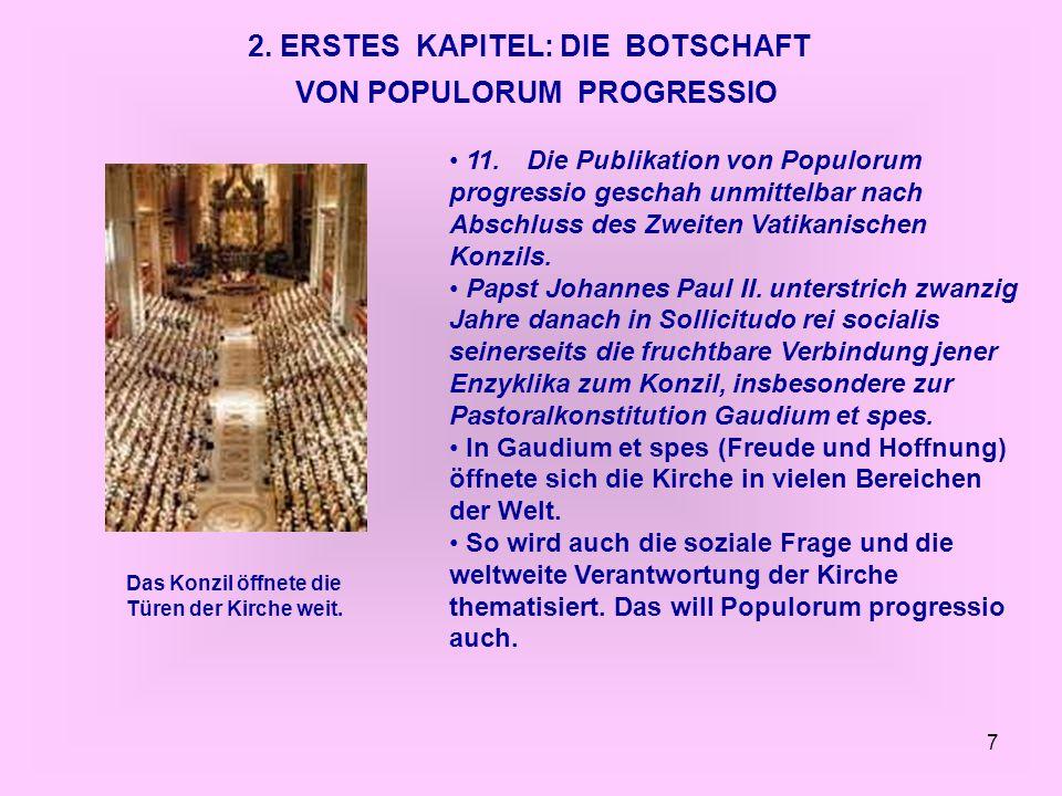 2. ERSTES KAPITEL: DIE BOTSCHAFT VON POPULORUM PROGRESSIO