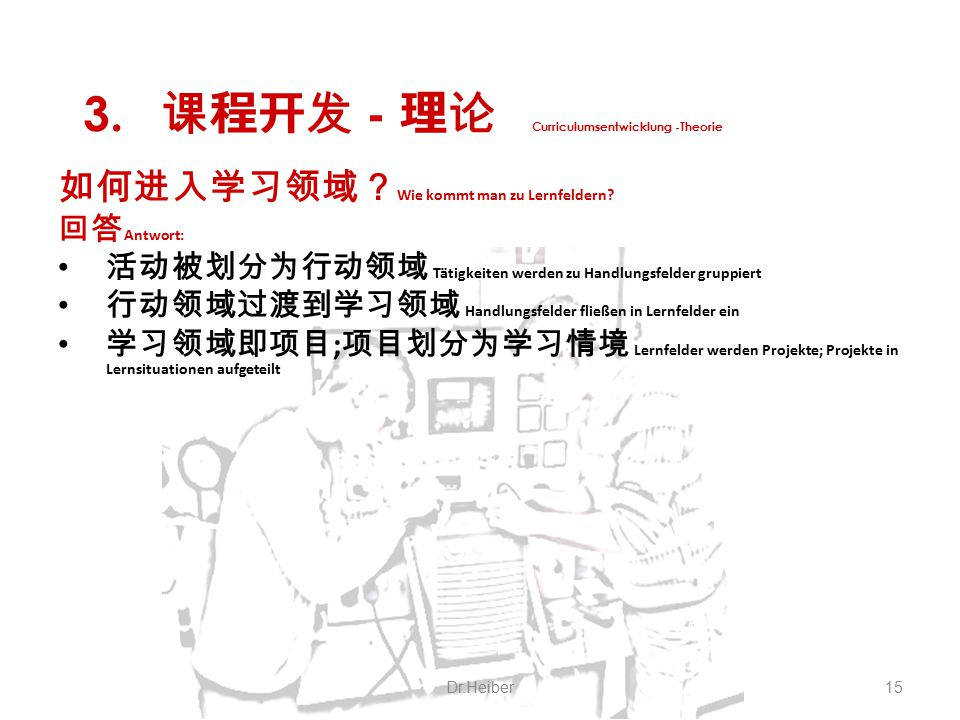 课程开发 - 理论 Curriculumsentwicklung -Theorie