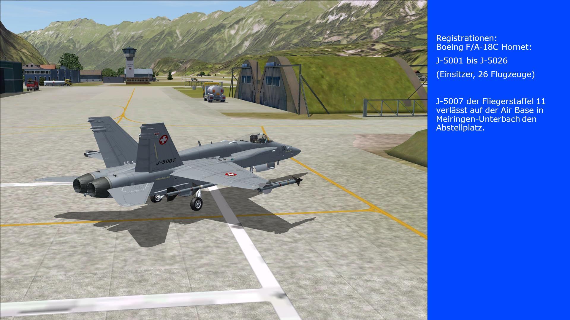 Registrationen: Boeing F/A-18C Hornet: