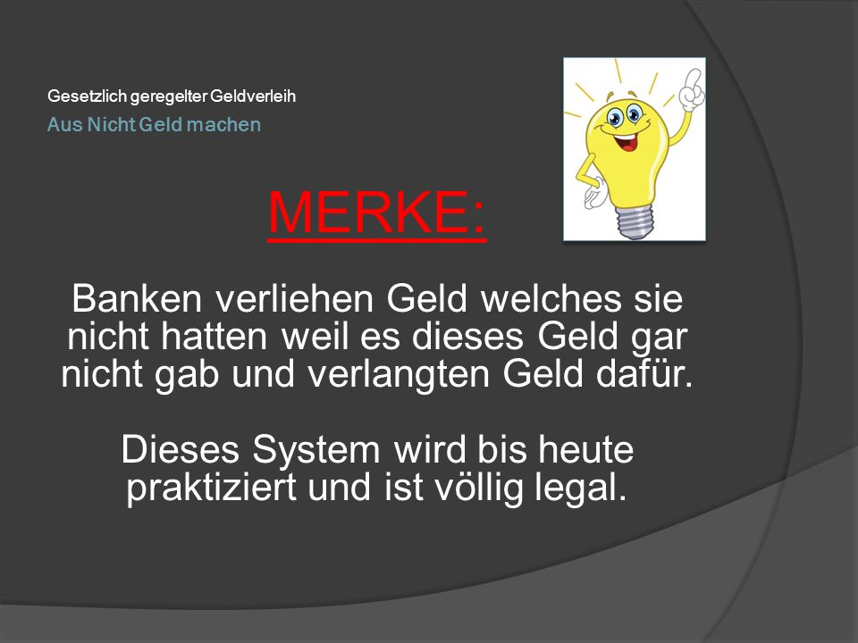 Gesetzlich geregelter Geldverleih