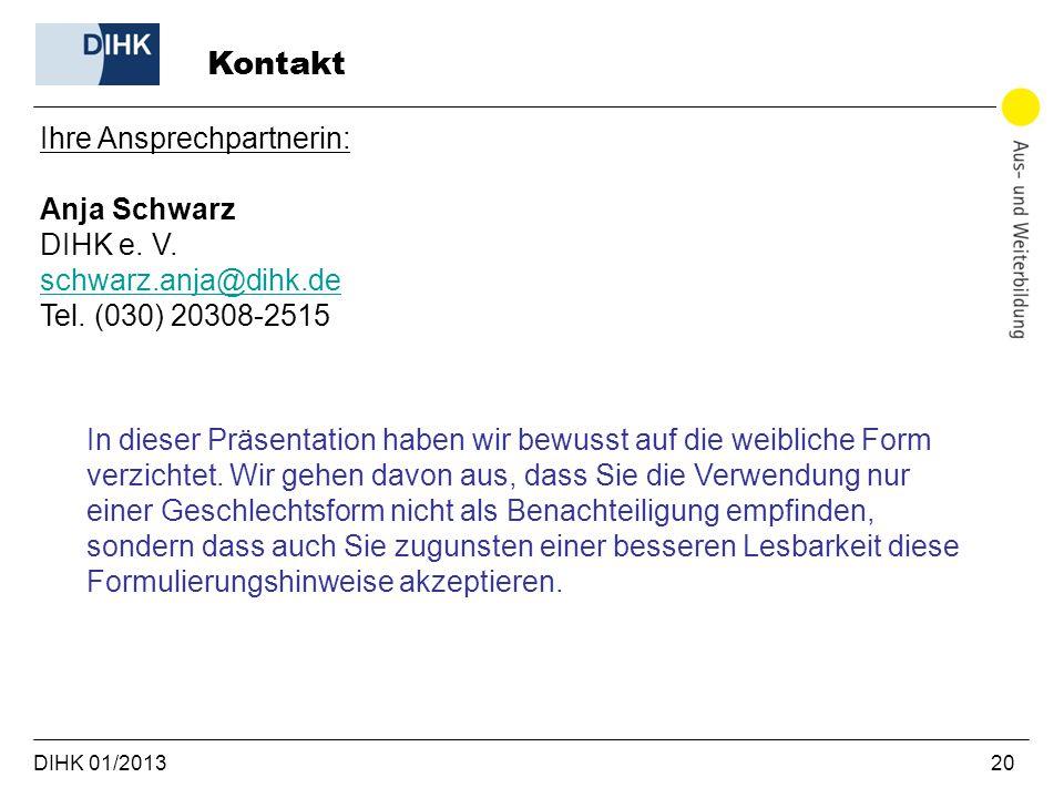 Kontakt Ihre Ansprechpartnerin: Anja Schwarz