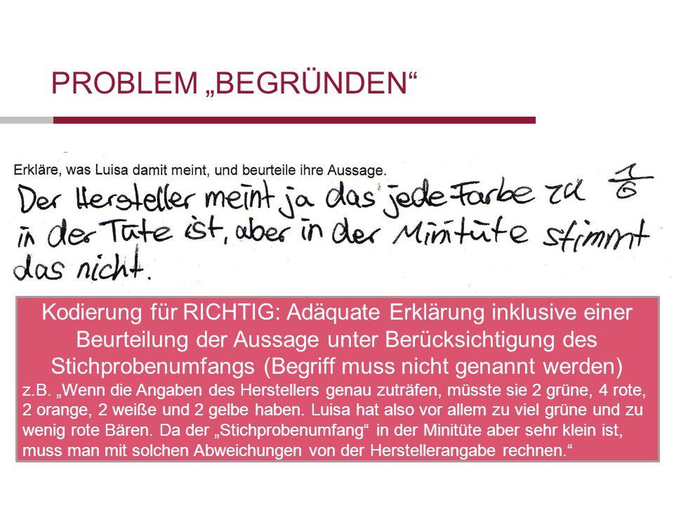 """Problem """"Begründen"""