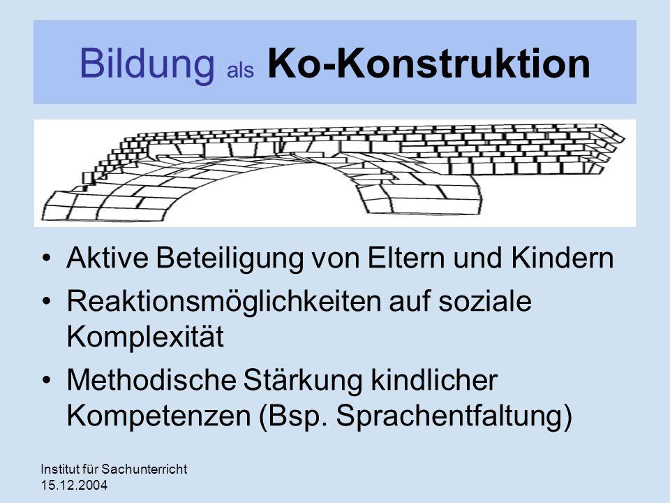 Bildung als Ko-Konstruktion