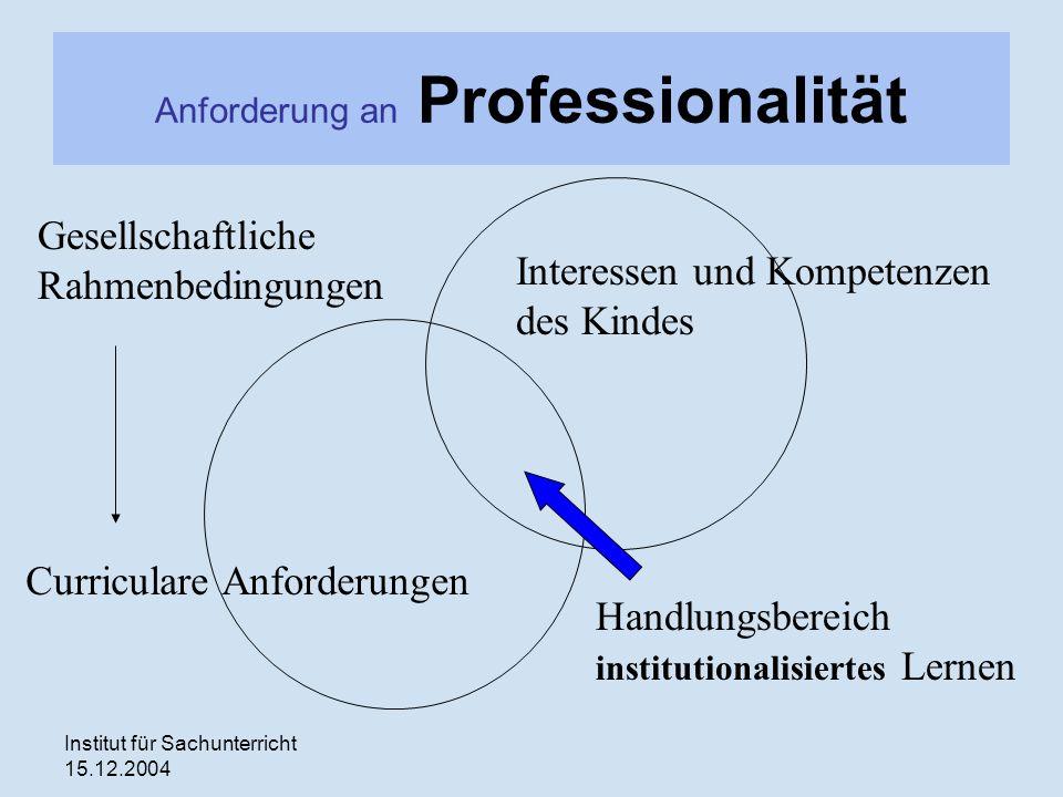 Anforderung an Professionalität
