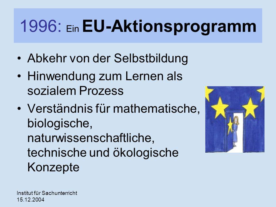 1996: Ein EU-Aktionsprogramm