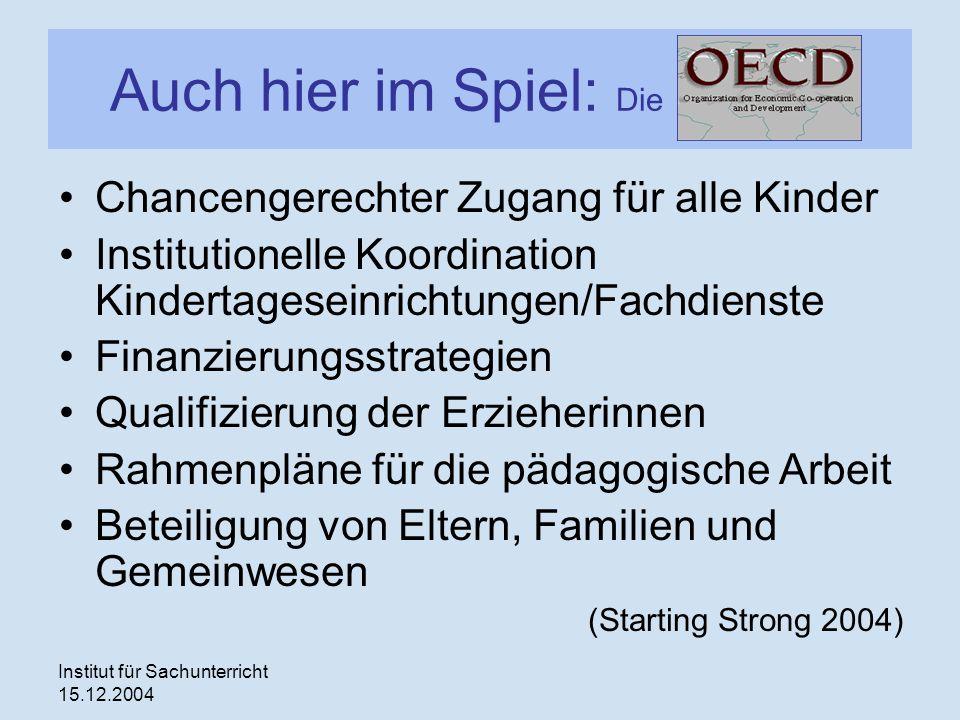 Auch hier im Spiel: Die OECD
