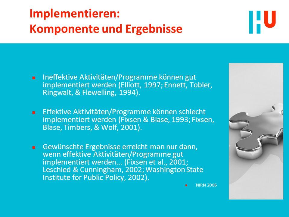 Implementieren: Komponente und Ergebnisse
