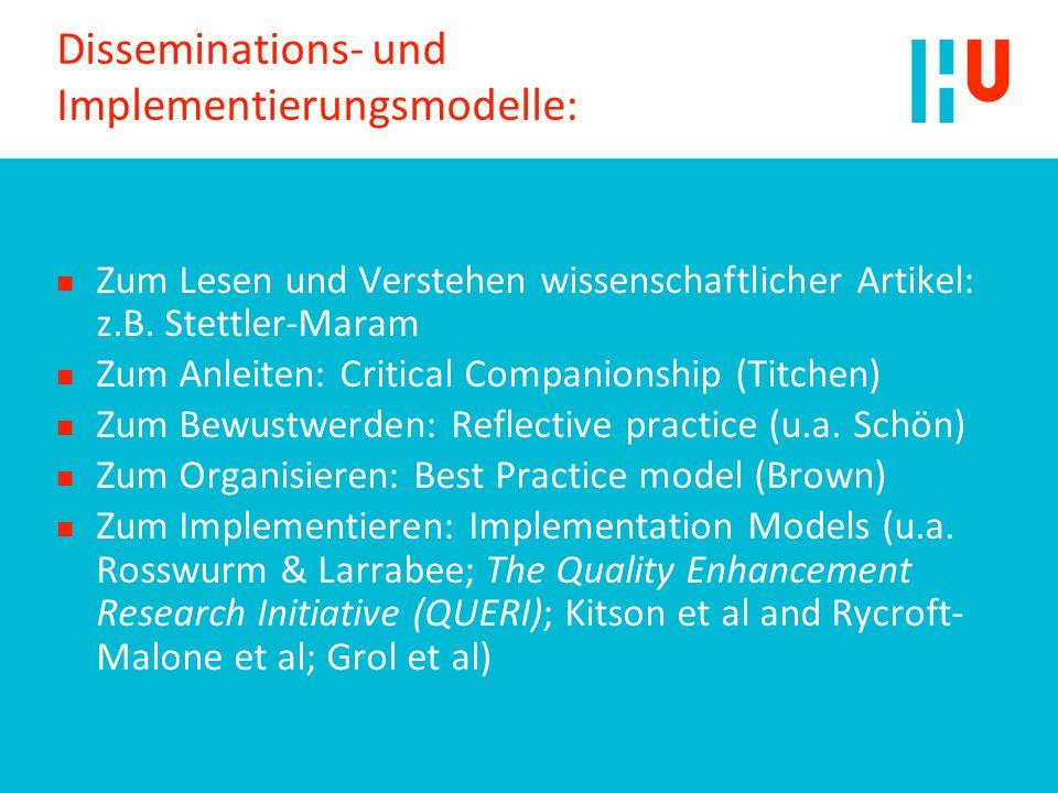 Disseminations- und Implementierungsmodelle: