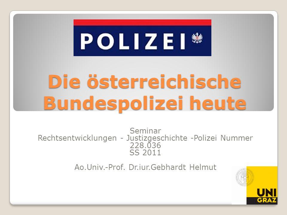 Die österreichische Bundespolizei heute