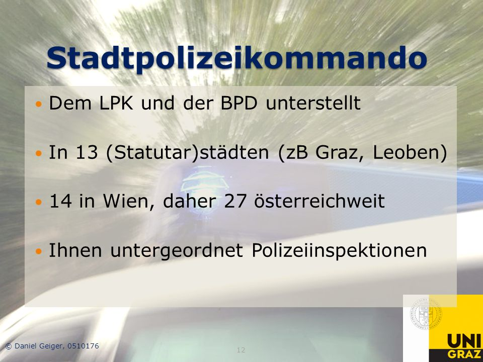Stadtpolizeikommando
