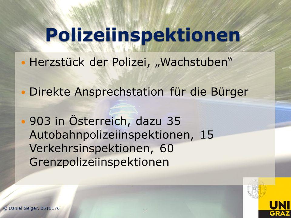 """Polizeiinspektionen Herzstück der Polizei, """"Wachstuben"""