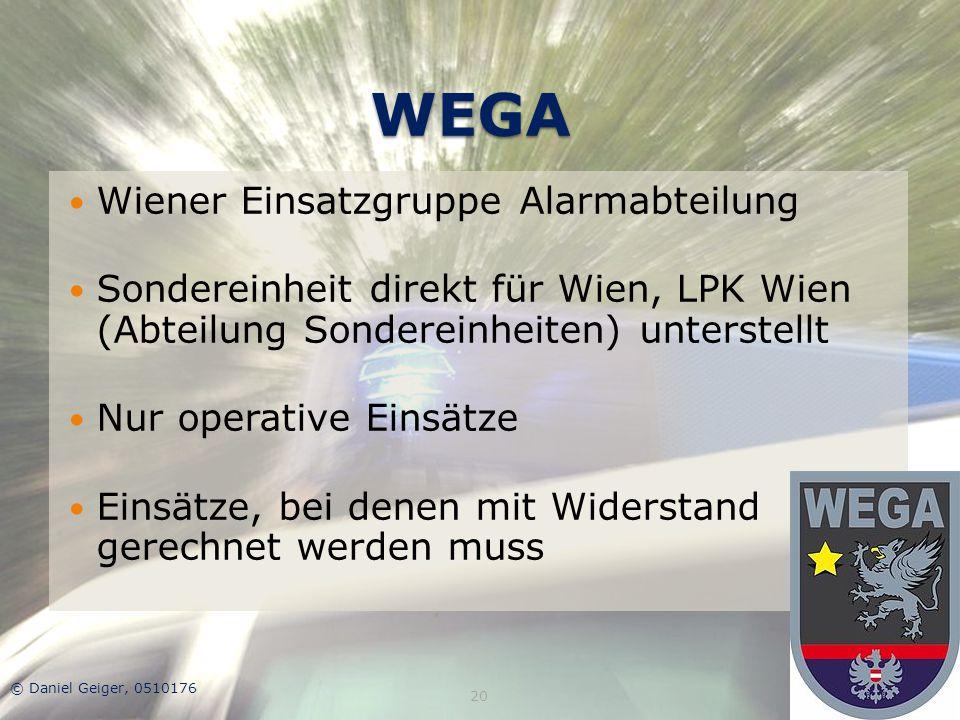 WEGA Wiener Einsatzgruppe Alarmabteilung