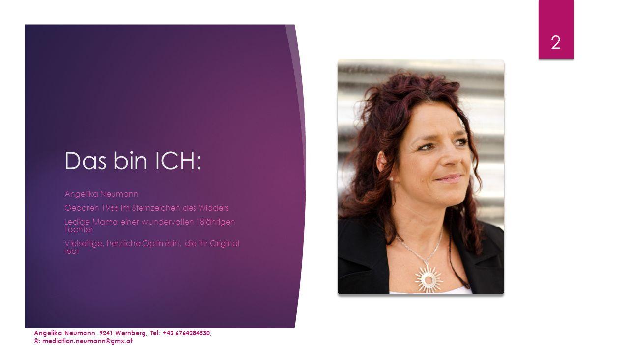 Das bin ICH: Angelika Neumann Geboren 1966 im Sternzeichen des Widders
