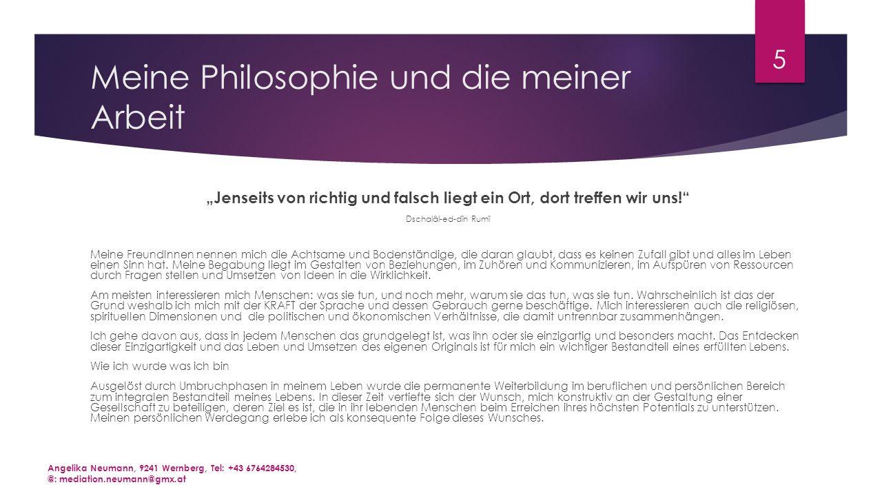 Meine Philosophie und die meiner Arbeit