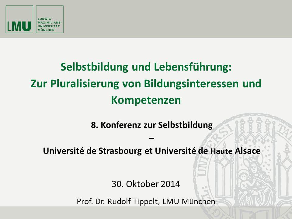 Selbstbildung und Lebensführung: Zur Pluralisierung von Bildungsinteressen und Kompetenzen