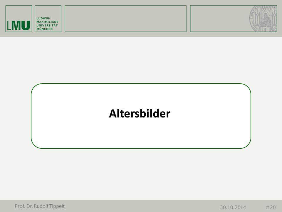 Altersbilder Prof. Dr. Rudolf Tippelt 30.10.2014 # 20
