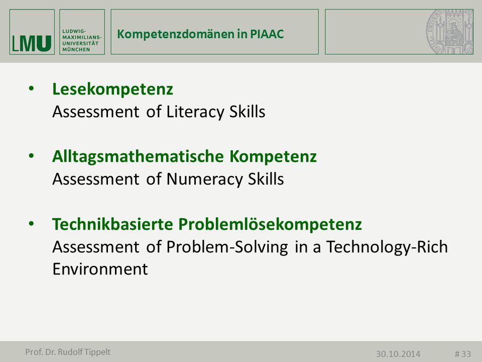 Kompetenzdomänen in PIAAC