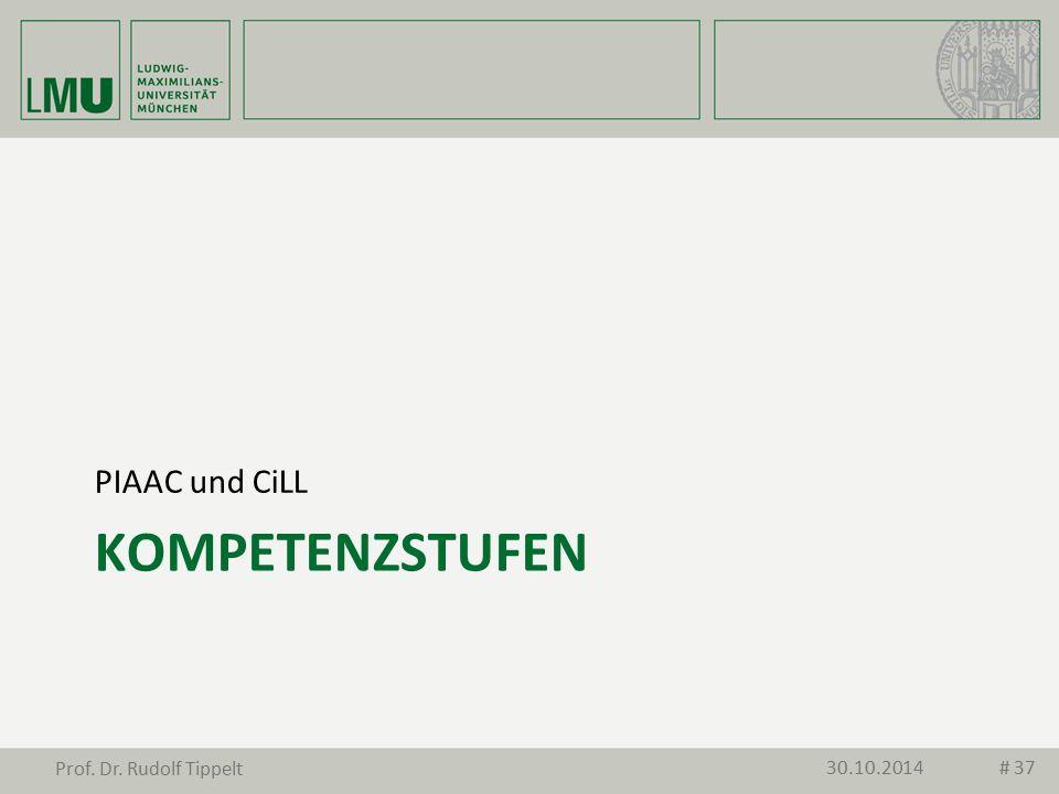 PIAAC und CiLL Kompetenzstufen Prof. Dr. Rudolf Tippelt 30.10.2014
