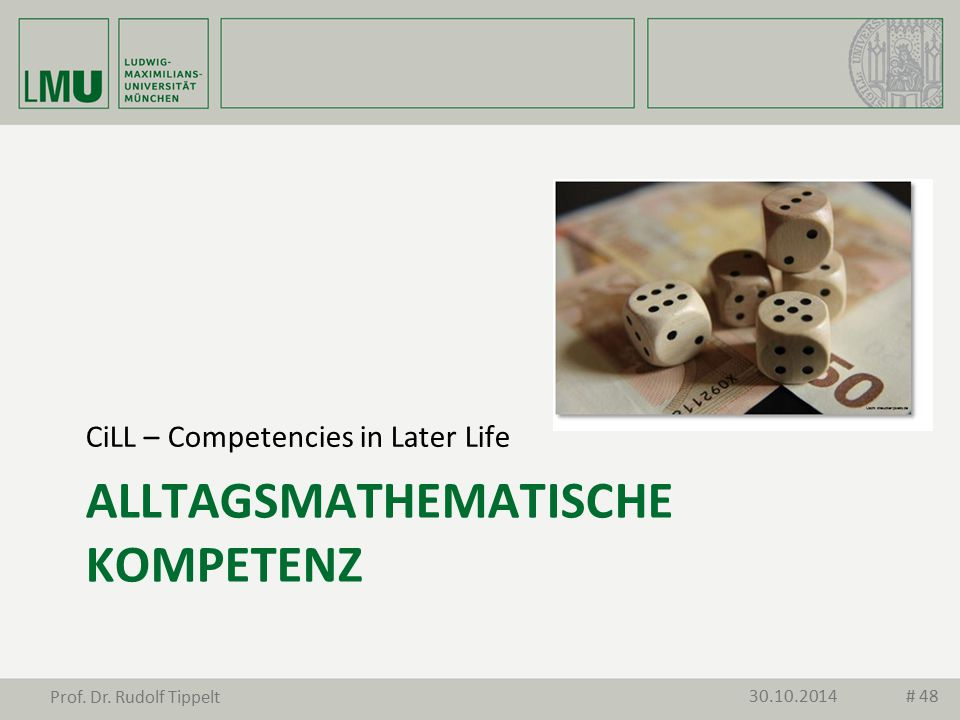 alltagsMathematische Kompetenz