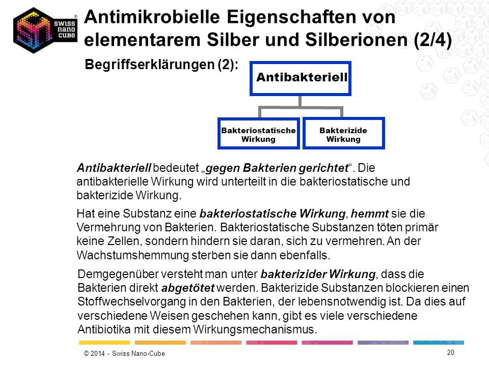 Bakteriostatische Wirkung