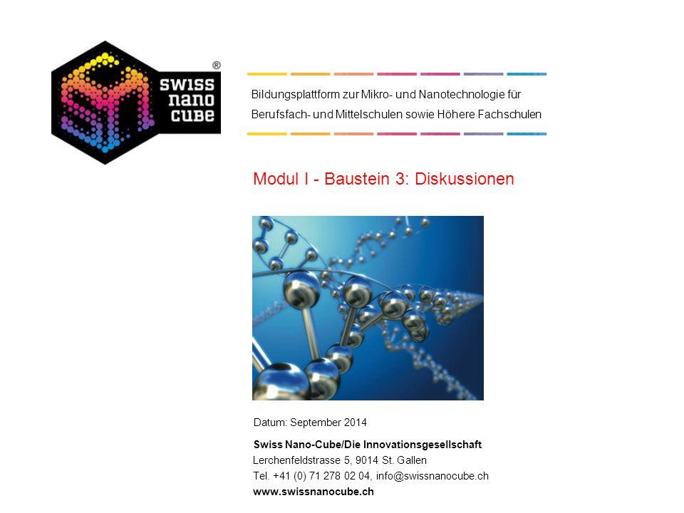 Modul I - Baustein 3: Diskussionen