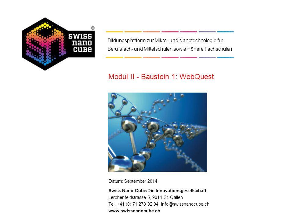 Modul II - Baustein 1: WebQuest