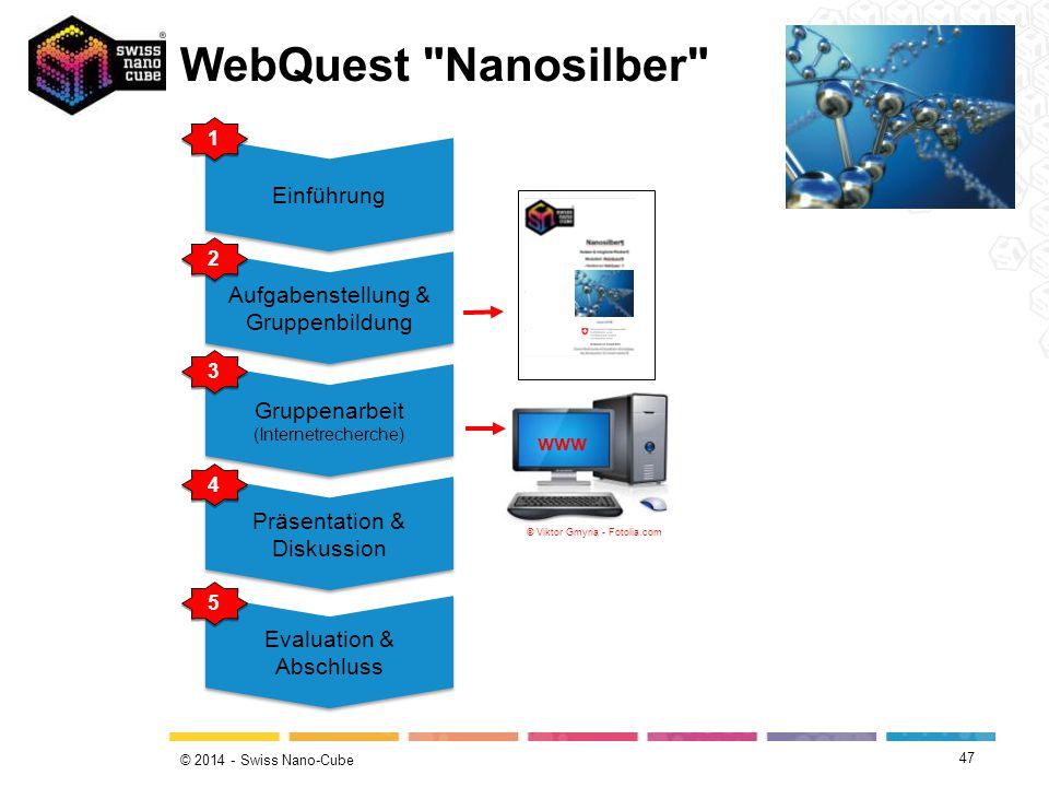 WebQuest Nanosilber Einführung Aufgabenstellung & Gruppenbildung