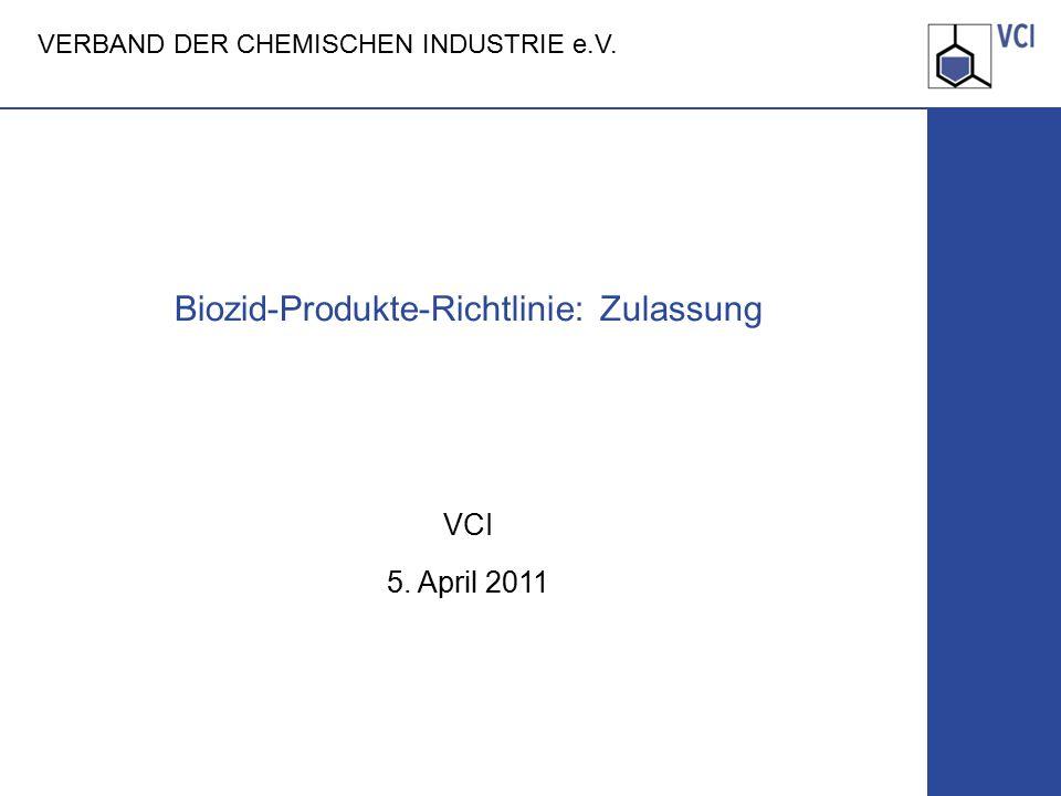 Biozid-Produkte-Richtlinie: Zulassung