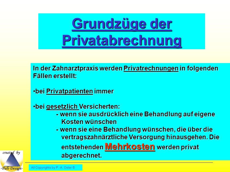 Grundzüge der Privatabrechnung