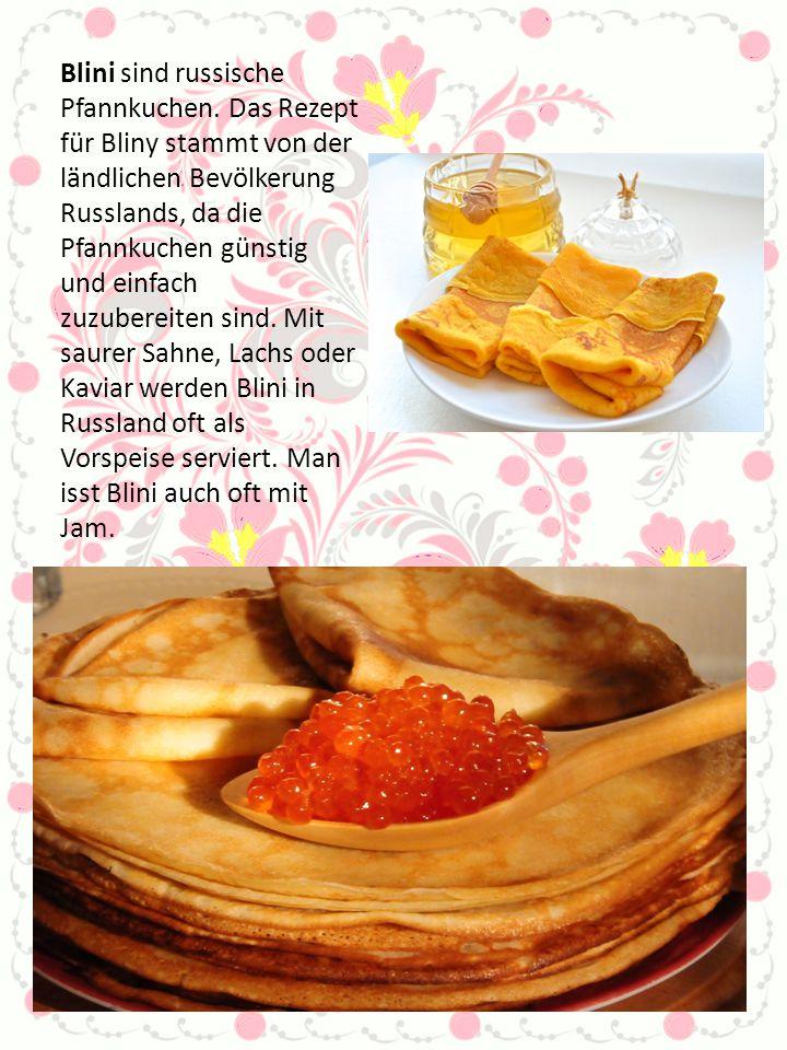 Blini sind russische Pfannkuchen